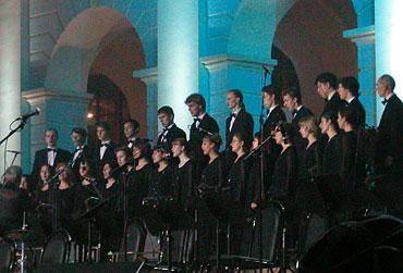 Выступление Камерного хора в программе Венского бала (2002)
