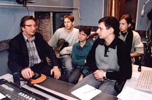 Факультатив по музыкальной звукорежиссуре проводит П.К. Кондрашин (1945-2010)